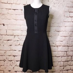 *Sale* Sandro Textured Fit and Flare Dress Black 4